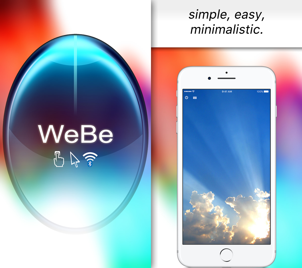 WeBe Bluetooth Mouse for iPhone / iPad & iPod touch