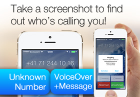 The first iPhone App ever that finds out who's calling you before you answer the phone.